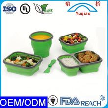 Promotional Wholesale 1-2-3 compartments collapsible eco friendly lunch box paper food container