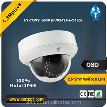 Full HD resolution 1280 x 960P, outside adjust Vari Focal AHD IR Dome Camera IP66 , 2.8-12 mm lens