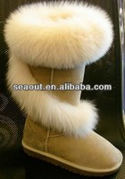 colourful warm woman leather boot