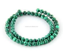 Natural high quality round malachite beads