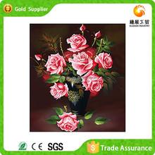 Custom Made Mosaic Of Diamond 5D Diy Flower Rose Handmade Oil Painting