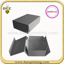 Elegant black paper gift packing box, Rigid Box with Magnetic closure, Jewelry Package Box