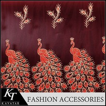 Good selling Red lace designs fabric for sale for wedding dress lace