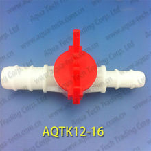 AQTK12-16 plastic valve switch for hoze to gas,water