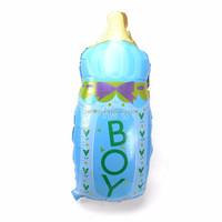 Hot sale 44*82 cm blue color Baby Milk Bottle Foil Helium Balloons For The Kids Decoration