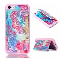Factory Stock Processing Multifunctional Leather Stand Case Cover for iPhone 5C