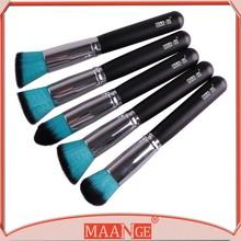 Pro 5 Pcs Blue Kabuki Make up Brush Brushes Set Foundation Blusher Powder New