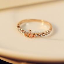 A single row of small diamond crown ring finger ring female Korean fashion trendsetter Ring WLJZ-1051