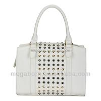 Wholesale Vintage Deisgner Rivet Women Leather Satchel Bag
