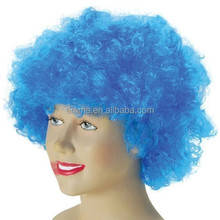 synthetic fiber hair disco party clown afro football fan wigs hair child costume adult football fan wigs W5032