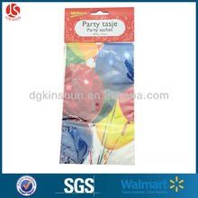 """5""""*9"""" 12 pack of balloon printed pe candy bag for birthday party"""