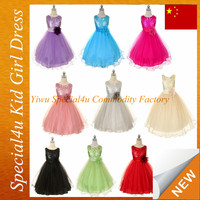 2015 kids birthday party dress handmade flower girl dresses of 9 years old CLBD-510