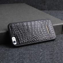 Luxury case For Apple iphone 6 /6Plus Phone case Genuine Crocodile Leather Cover