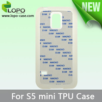 New arrival 2D Sublimation silicone TPU phone case for Samsung Galaxy S5 MINI