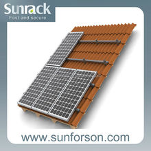 Solid solar energy mounting bracket for different roofs