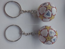 Customized Design Soccer Ball/football/basketball/volleyball Soft Plastic Keychain for Hot sale