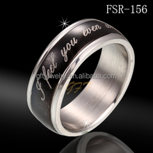 Professional Factory Wholesale Fashion Stainless Steel spinner Ring