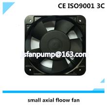 Small internal ac axial flow fan