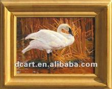 Best Price Of Hot Selling Swan Frame Decoration Oil Painting
