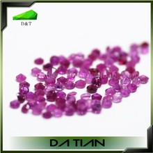 Round beads natural small size precious stone pink ruby stone prices