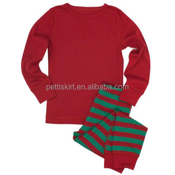 Bebê infantil Unisex pijamas conjuntos de roupas de natal criança Outfits