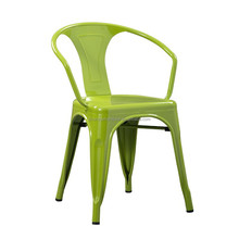 Dining room furniture type and dining metal chair powder coated in green color