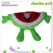 Factory wholesale Watermelon dog chew toy pet squeaker toy pet plush toy dog squeaker toy in pet product