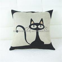 black cat cushion pillow, car cushion pillow, sofa cat cushion