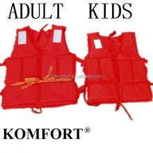 Floating EPE foam portable safety personalized kids belt life jacket price