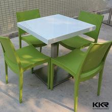 colori 300 comune senza saldatura piano del tavolo da pranzo con base in acciaio inox