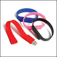 Hot seller promotion gift bracelet usb wristband usb flash memory stick