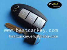 Best price 3 button remote control key shell for Infiniti smart key with emergency key NSN14 blade battery position at one side