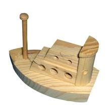 Novo projetado pequena escultura em madeira barco para decoração de casa
