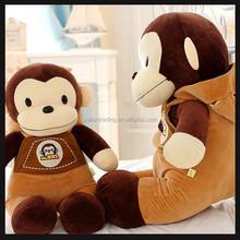 plush monkey toy zoo animal set toy