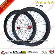Super ligera!!! 700C Ruedas Carbono de bicicleta de carretera YD-SLTW6088 (ruedas tubulares delantero 60mm posterior 88mm - anch