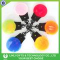 Logotipo personalizado plástico destellar llavero, bombilla Led llavero, reflectantes llavero