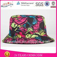 Wholesale for sale rainbow designer printed custom colorful bucket hat