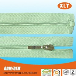 most popular lovely polyester teeth nylon zipper with custom zipper pull