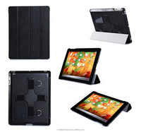New arrival folio stand pu leather tablet case with hand holder for Apple ipad 3