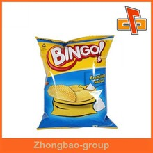 Heat seal custom logo design plastic potato chips bag with foil inside for packaging