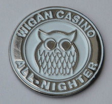 Wigan Casino All-Nighter Northern Soul Quality Lapel Pin Badge