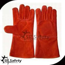Protección del lado SRSAFETY vaca piel kevlar guantes de soldadura línea disponible