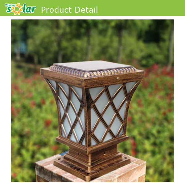 Outdoor main gate lamp solar powered pillar light buy high quality 08g mozeypictures Image collections