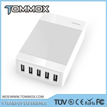 Tommox Mobile Phone Universal Travel Charger Adapter With Dual Usb Home Charger