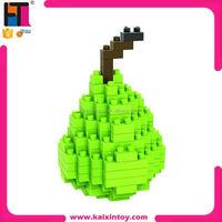 120pcs fruit pear nano blocks small plastic toy loz diamond building block