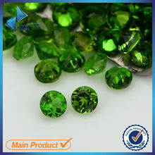 Round shape stones green diopside natural diopside