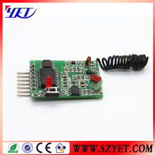 433mhz receiver module encode receiver module rolling code fixed code YET205B-630