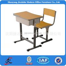 children school furniture cheap single metal wood adjustable school kids classroom desk and chair