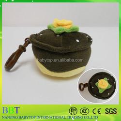 Customized soft keychain toy, plush chocolate cupcake, stuffed cupcake wholesale for baby