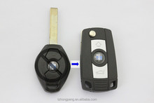 modified remote control flip car key shell cover for BMW uncut flip car key blade factory direct